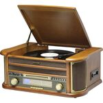 Denver MCR-50MK3 - Wooden brown retro music center with turntable — 0€ Photo Emporiki