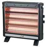 LIFE HEAT WAVE Ηλεκτρική θερμάστρα χαλαζία 2750W με 5 θερμαντικές λάμπες και θέρμανση 2 κατευθύνσεων — 49.9€ Photo Emporiki