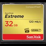 SanDisk Extreme CompactFlash 32GB 120MB/s — 34.9€ Photo Emporiki