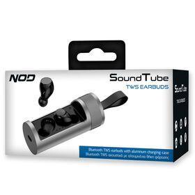 NOD SOUNDTUBE Bluetooth TWS ακουστικά με αλουμινένια θήκη φόρτισης — 29€ Photo Emporiki
