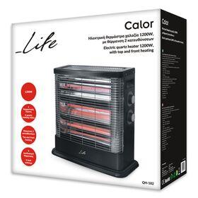 LIFE CALOR Ηλεκτρική θερμάστρα χαλαζία 1200W με θέρμανση 2 κατευθύνσεων — 34.9€ Photo Emporiki
