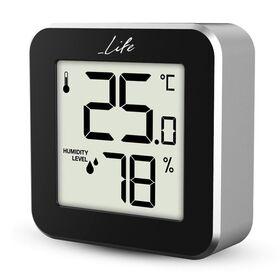 LIFE Alu Mini Ψηφιακό θερμόμετρο και υγρόμετρο εσωτερικού χώρου — 9.99€ Photo Emporiki