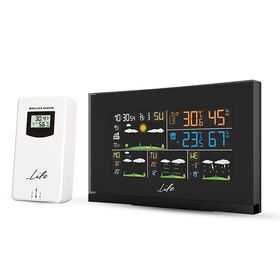 LIFE Smartweather Tundra Curved Wi-Fi Μετεωρολογικός σταθμός με ασύρματο εξωτερικό αισθητήρα και ρολόι / ξυπνητήρι — 49.9€ Photo Emporiki